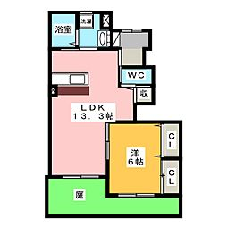 レラツィオーネA棟[1階]の間取り