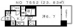 レジュールアッシュ天王寺PARKSIDE(パークサイド)[6階]の間取り