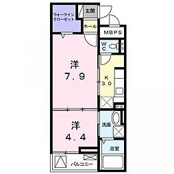 クレメントハウス[2階]の間取り