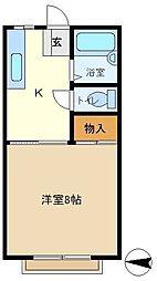メゾン豊D 208[2階]の間取り