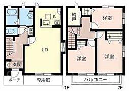 [テラスハウス] 大阪府堺市西区鶴田町 の賃貸【/】の間取り