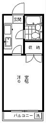 京王井の頭線 永福町駅 徒歩12分の賃貸アパート 1階1Kの間取り
