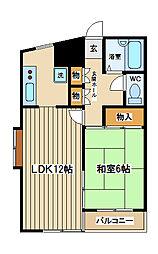 東京都府中市矢崎町5丁目の賃貸マンションの間取り