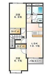プロニティ HY[2階]の間取り