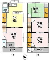 [テラスハウス] 愛媛県松山市古川西3丁目 の賃貸【/】の間取り