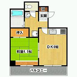 レジデンスオークラ[4階]の間取り