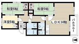 ドミール平池[A303号室]の間取り