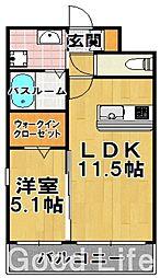 MR レジデンス 博多[7階]の間取り