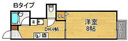 シータイガーI 3階1DKの間取り