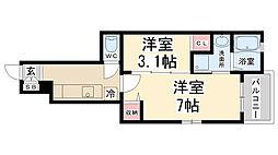 昆陽3丁目アパート[101号室]の間取り