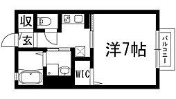 兵庫県宝塚市中筋8丁目の賃貸アパートの間取り