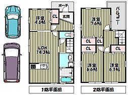 [一戸建] 大阪府堺市中区深井東町 の賃貸【/】の間取り