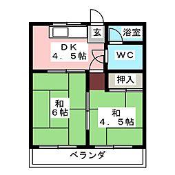 コーポ神谷[2階]の間取り