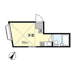 クレモント生田[2階]の間取り