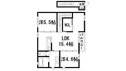 兵庫県宝塚市安倉中3丁目の賃貸アパートの間取り