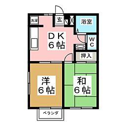 エクセレント南吉成 壱番館[2階]の間取り