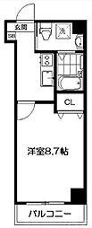 サクシード伏見京橋 3階1Kの間取り