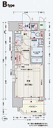 クリスタルグランツ東天満[8階]の間取り