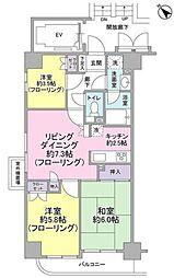 大山ダイカンプラザA棟[11階]の間取り