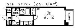 ラ・グラシューズ[1階]の間取り