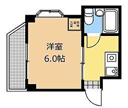 神奈川県相模原市中央区横山3丁目の賃貸マンションの間取り