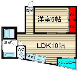 ニュー神田マンション[2階]の間取り