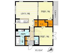 仮称)D-room山田東[2階]の間取り