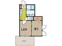 セジュール南浦和[1階]の間取り
