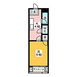 福島ハイツ[2階]の間取り