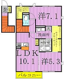 グランボヌール3[3-202号室]の間取り