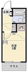 レオパレススエヒロ富岡[102号室]の間取り