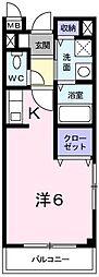 兵庫県相生市陸本町の賃貸アパートの間取り