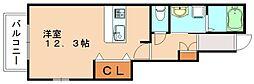 キャッスル南II[1階]の間取り