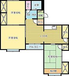 e−lux MIYAKO(イーラックスミヤコ)[2階]の間取り