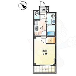 南海高野線 浅香山駅 徒歩5分の賃貸マンション 1階1Kの間取り