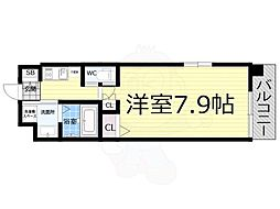 Osaka Metro千日前線 桜川駅 徒歩10分の賃貸マンション 5階1Kの間取り