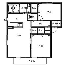 大阪府堺市中区陶器北の賃貸アパートの間取り