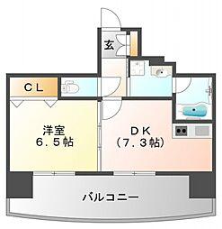 サンレムート江坂Second[7階]の間取り