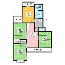 稲駅マンション[3階]の間取り