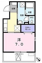 東京都西東京市南町2丁目の賃貸マンションの間取り