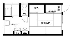 東京都新宿区北新宿2丁目の賃貸アパートの間取り