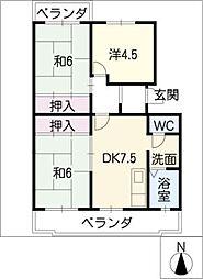 グリーンヒル東新K[2階]の間取り