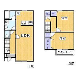 プレジデント新栄2番館[1階]の間取り