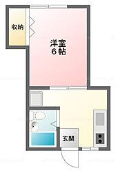 北新宿エンジェル[1階]の間取り