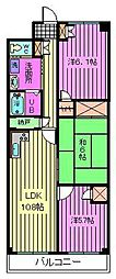 ルクソル浦和[4階]の間取り