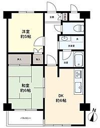 京王むさしのマンション[4階]の間取り