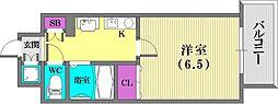 スワンズコート新神戸[301号室]の間取り