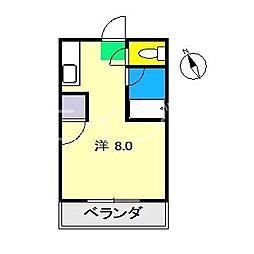 サンシャトー東雲[2階]の間取り