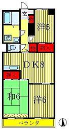 サンモールモリヤ[4階]の間取り