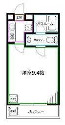 JR中央本線 西荻窪駅 徒歩3分の賃貸アパート 1階1Kの間取り